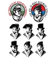 set patterns one man as swindler adventurer vector image vector image