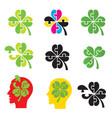shamrock four leaf clover puzzle concept vector image