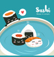 sushi in hot springs vector image vector image