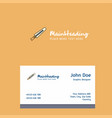 sword logo design with business card template vector image vector image