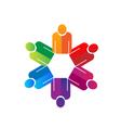 Teamwork business people vector image vector image