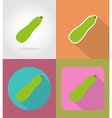 vegetables flat icons 13 vector image vector image