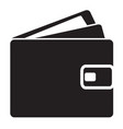 wallet icon on white background flat style wallet vector image vector image