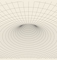 wireframe torus with connected lines and dots vector image vector image