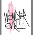 wonder girl typography for print t shirt vector image vector image