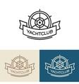 Yacht club logo design vector image