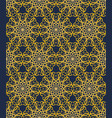 yellow seamless decorative filigree lace patterns vector image vector image