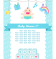 baby boy shower care with place for your text vector image