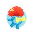 clown icon symbols of funnyman profession cartoon vector image