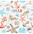 Sea Coast Pattern Background vector image