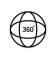 360 degree view logo tour globe and vision vector image