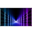abstract night club laser show corridor interior vector image vector image