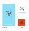 air turbine company logo app icon and splash page vector image vector image