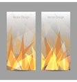 banners with abstract flame vector image vector image