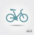 bicycle bike icon vector image vector image