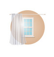blank transparent curtain vector image vector image