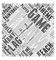 BWPB best paintball games Word Cloud Concept vector image vector image
