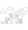 Cartoon Family outline vector image vector image