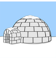Cartoon igloo vector image