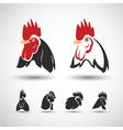 chicken head4 vector image