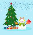 christmas xmas new year card vector image vector image