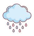 cloud rain hello autumn design icon vector image