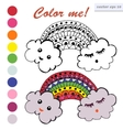 colored clouds with the sky vector image vector image