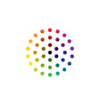colorful dotted rainbow icon background vector image