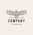 condor bird hipster vintage logo icon vector image vector image