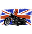 custom motorbike with great britain flag in vector image vector image