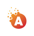 dots letter a logo a letter design with dots vector image vector image