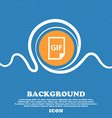 File GIF icon sign Blue and white abstract vector image vector image