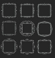 flourishes square frames vector image vector image