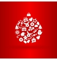 funny christmas ball with icons vector image