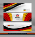 germany flag concept background vector image vector image