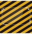 Glass frame on grunge striped cunstruction vector image