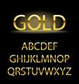 golden alphabet letters font type vector image