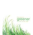 Grass is greener background vector image