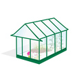 greenhouse vector image vector image