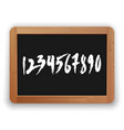 hand drawn numbers on a blackboard vector image