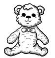 Hand drawn Teddy Bear vector image