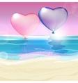 Hearts and Sea vector image vector image