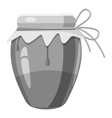 Jug with honey icon gray monochrome style vector image vector image