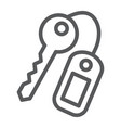 key line icon close and safety unlock sign vector image vector image