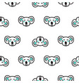 koala bear heads funny seamless pattern in vector image