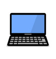 laptop flat icon computer symbol vector image