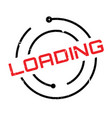 loading rubber stamp vector image vector image