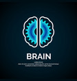 logo brain color silhouette on a dark vector image