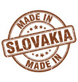 made in slovakia brown grunge round stamp vector image vector image