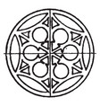 medieval circular panel is a wrought-iron design vector image vector image